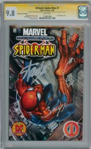 Ultimate Spider-man #1 DF Variant CGC 9.8 Signature Series Signed x 3 Stan Lee Marvel comic book